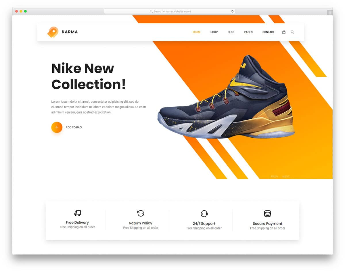 Web Page Template | 24 Best Free Ecommerce Website Templates In 2019 Uicookies