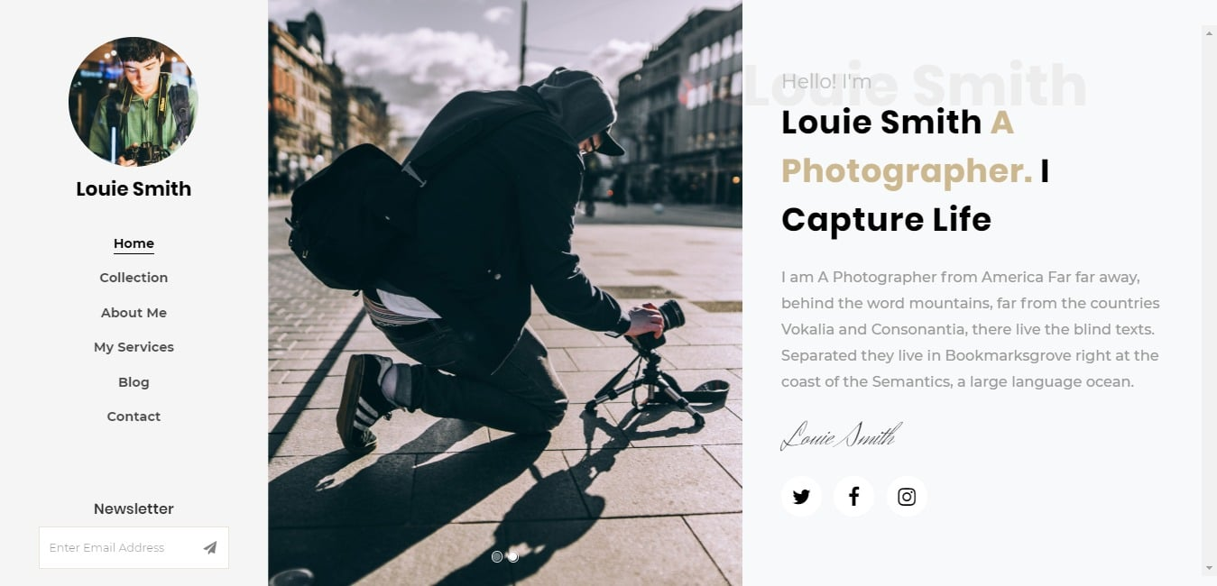 louie-free-simple-website-template