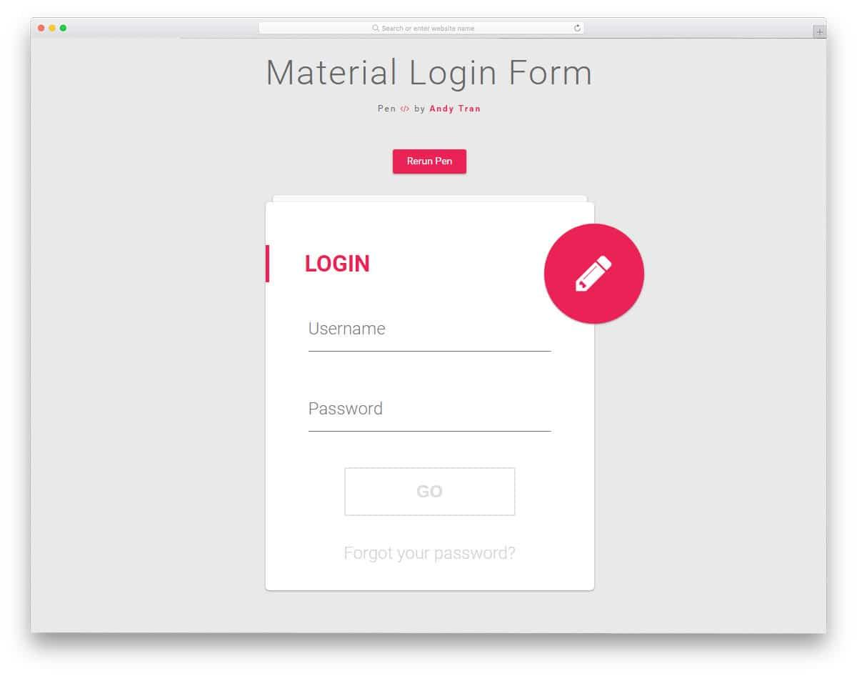 material-login-form