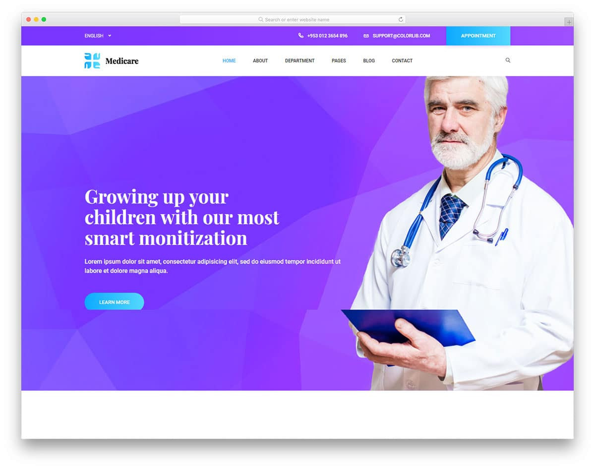 medicare2-free-doctor-website-templates