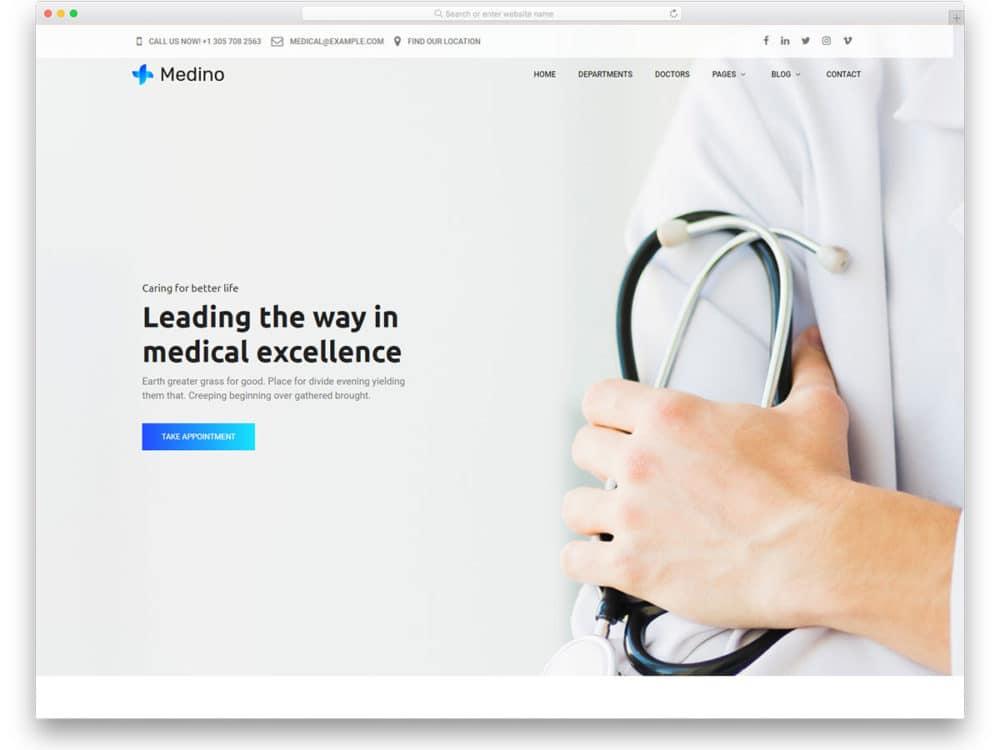 Medino Free Doctor Website Templates
