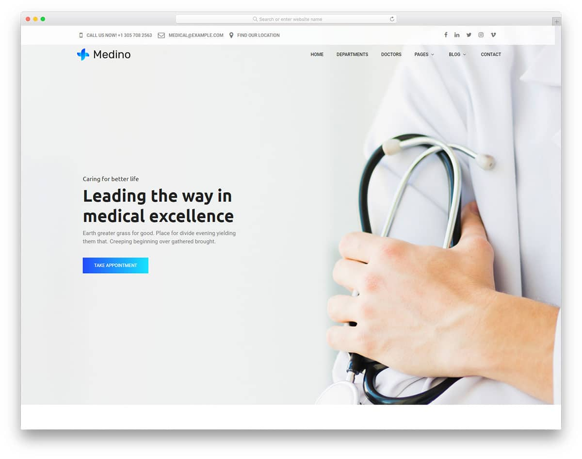 medino-free-healthcare-website-templates