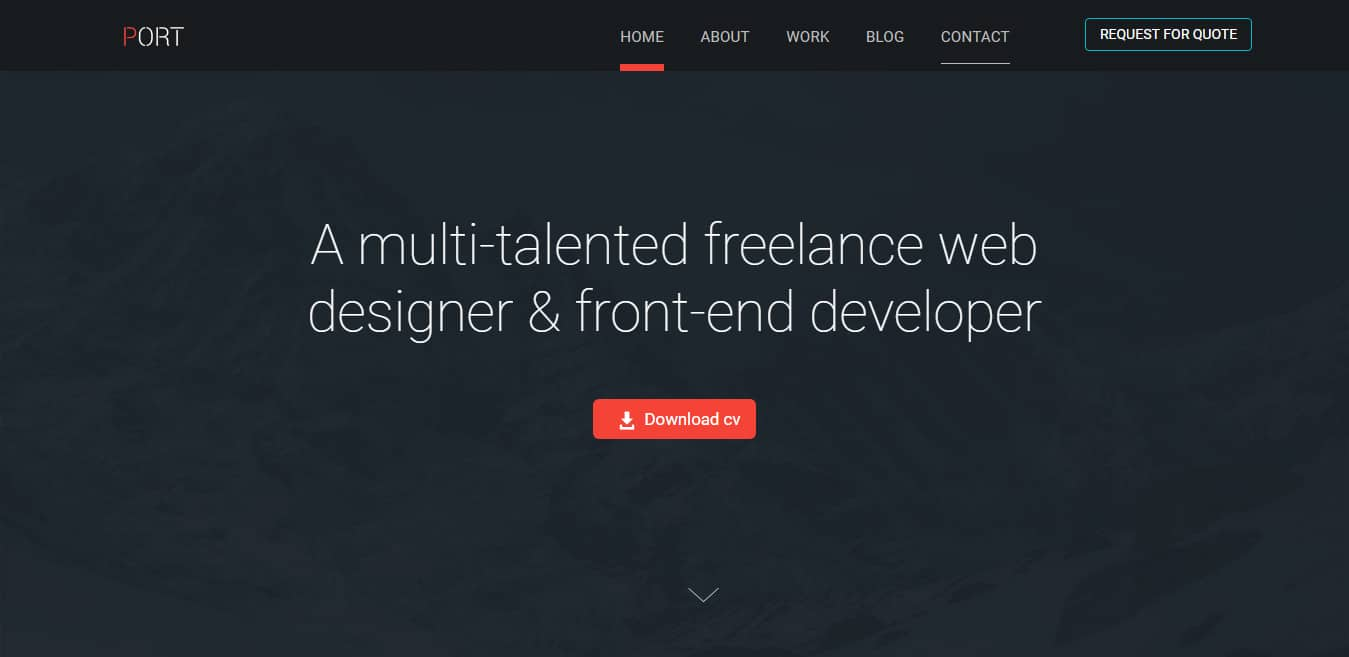 port-free-one-page-website-template