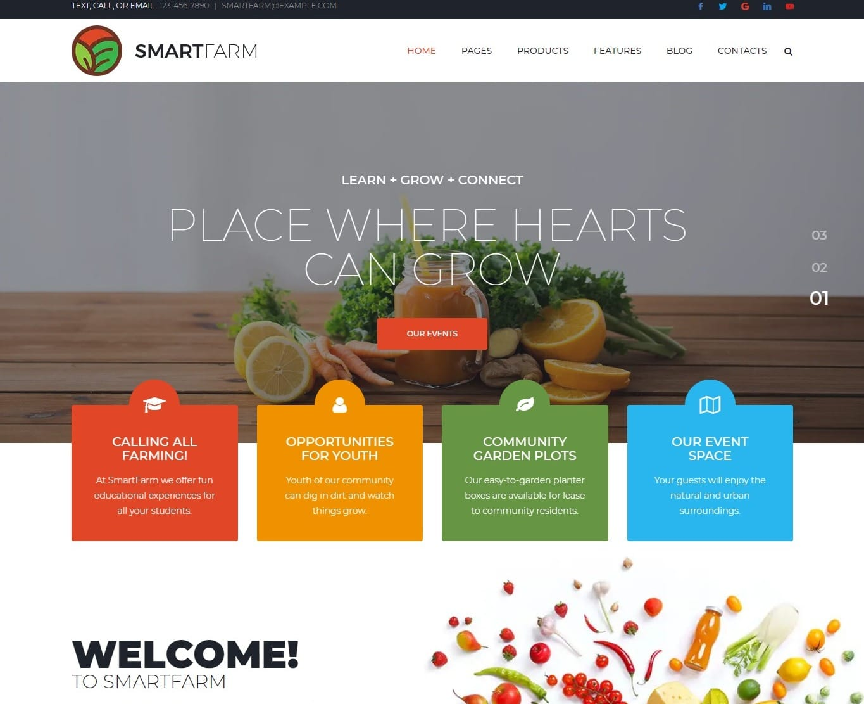 smart-farm-agriculture-website-template