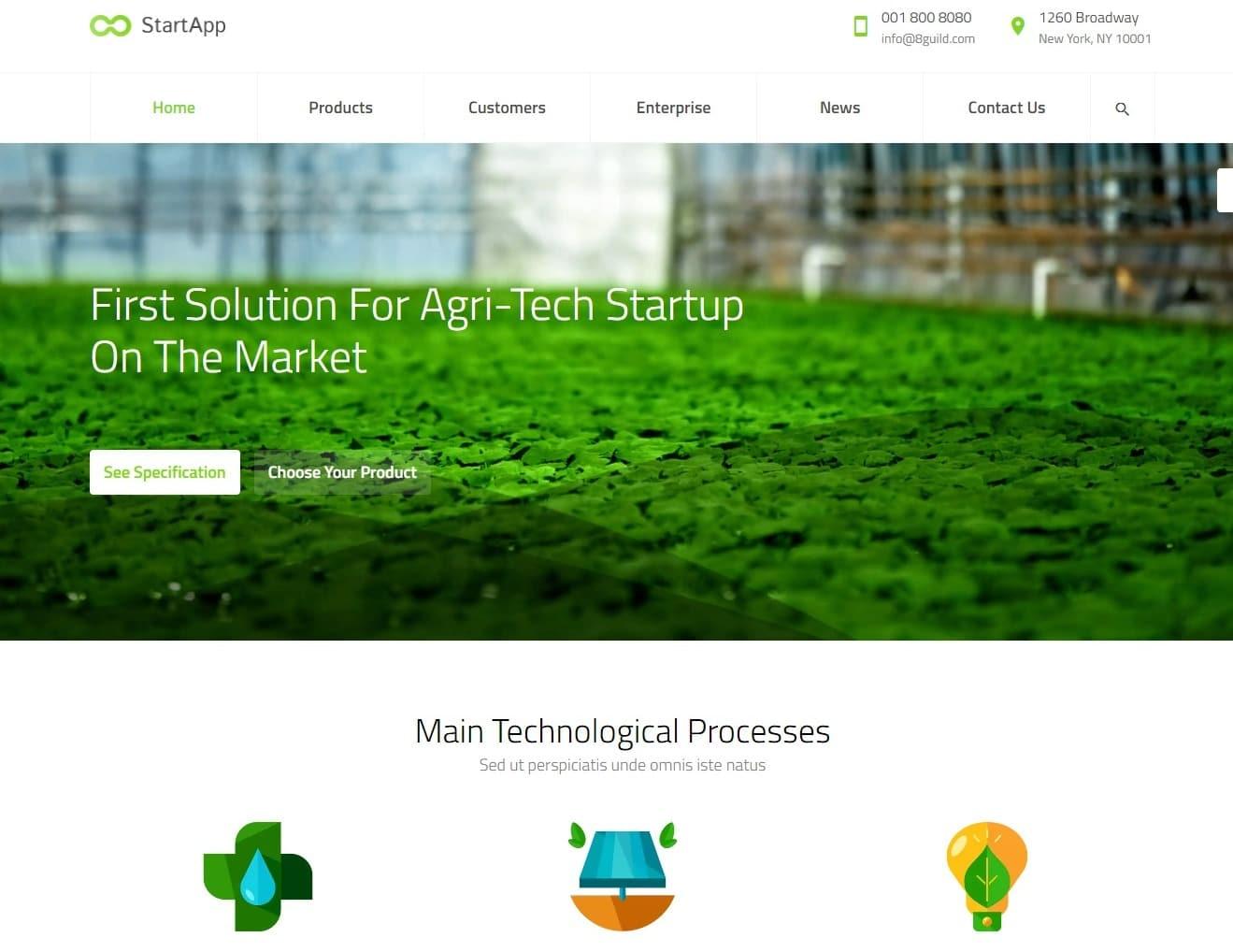 startapp-agriculture-website-template