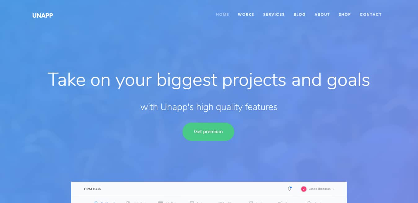 unapp-free-one-page-website-template