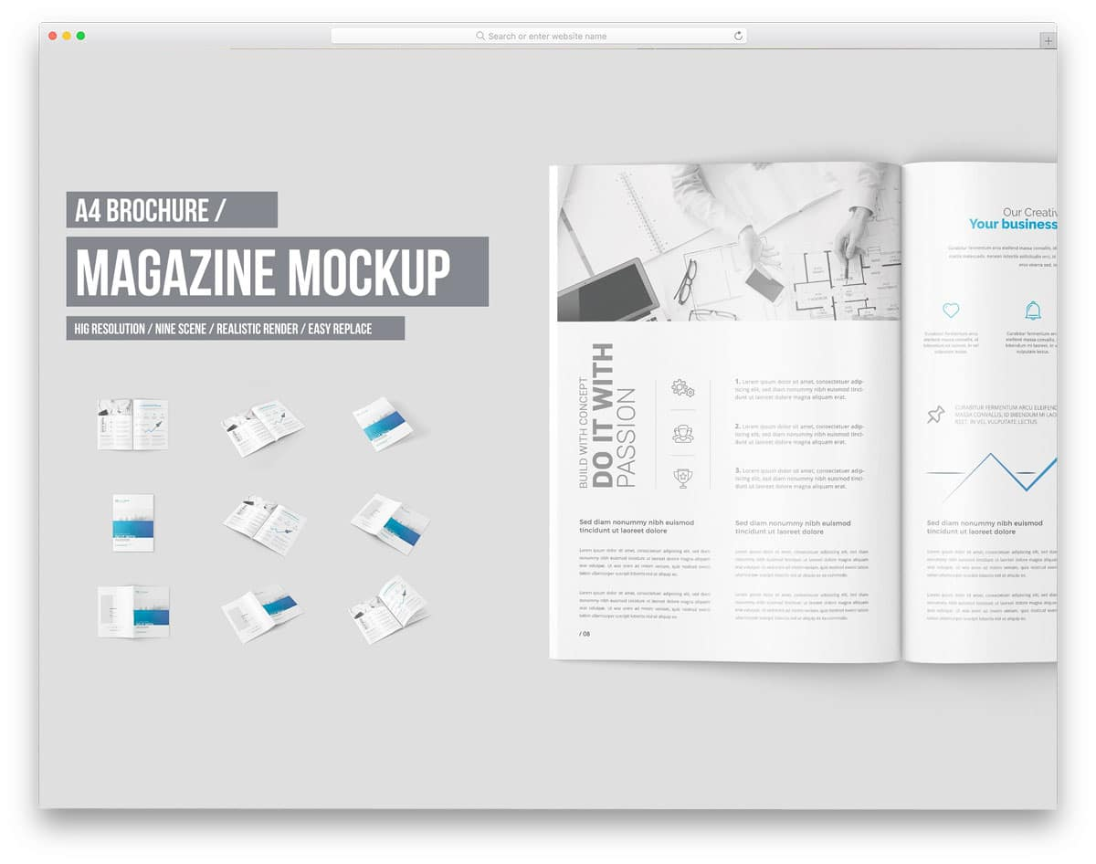 A4-Magazine-And-Brochure-Mock-Up