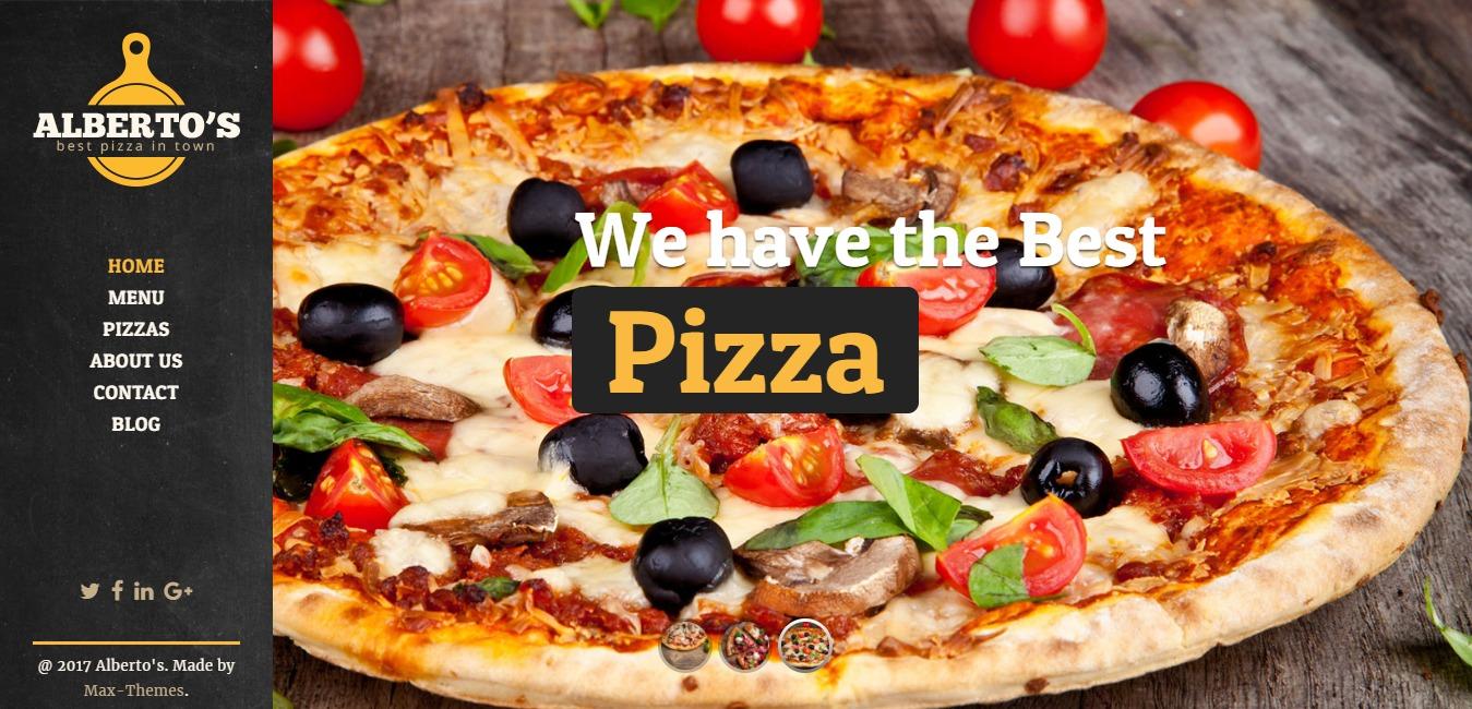 ALBERTOS Pizza Restaurant HTML TemplateALBERTOS Pizza Restaurant HTML Template