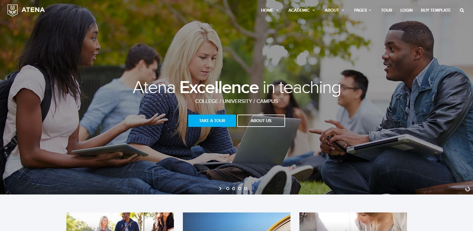 ATENA College University and campus template