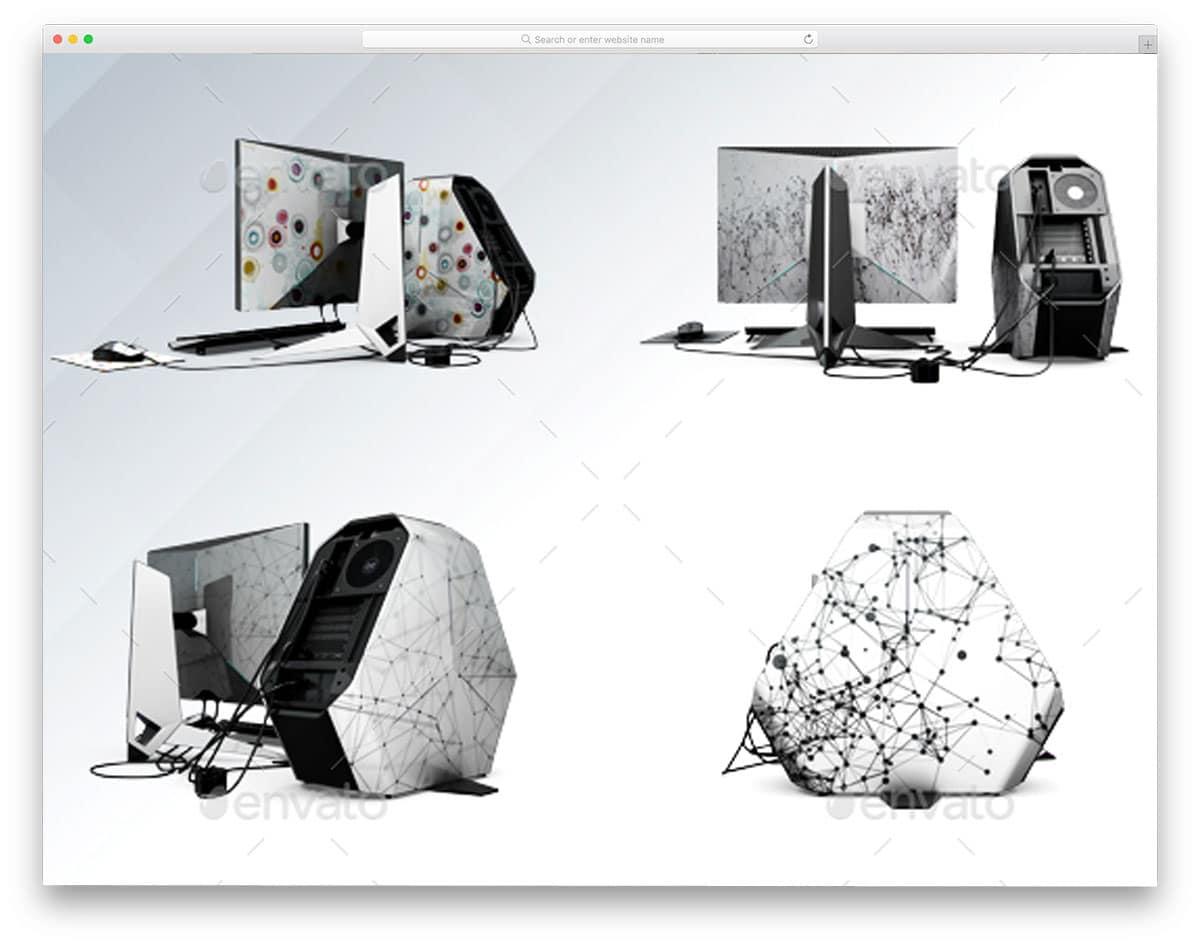 Computer-Set-App-and-Skin-Mockup-computer-mockups