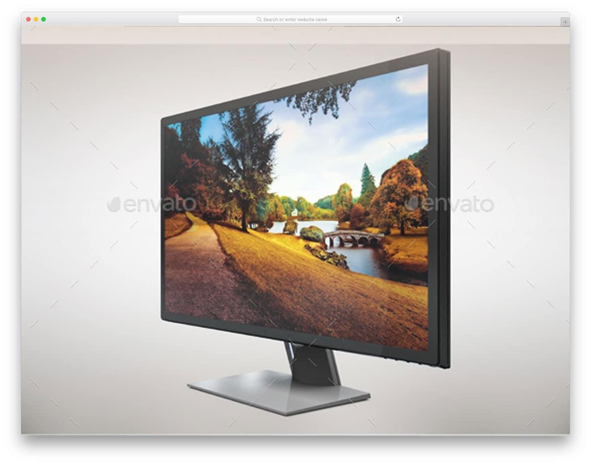 Dell-Monitor-S2817Q-App-MockUp-computer-mockups
