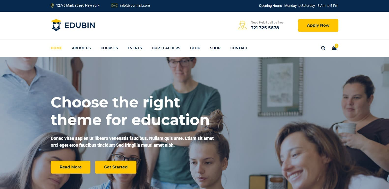 Edubin LMS Education HTML Template