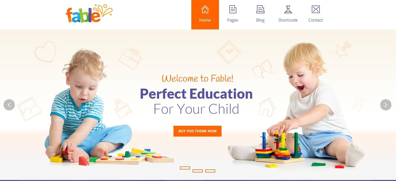 Fable Children Kindergarten Template