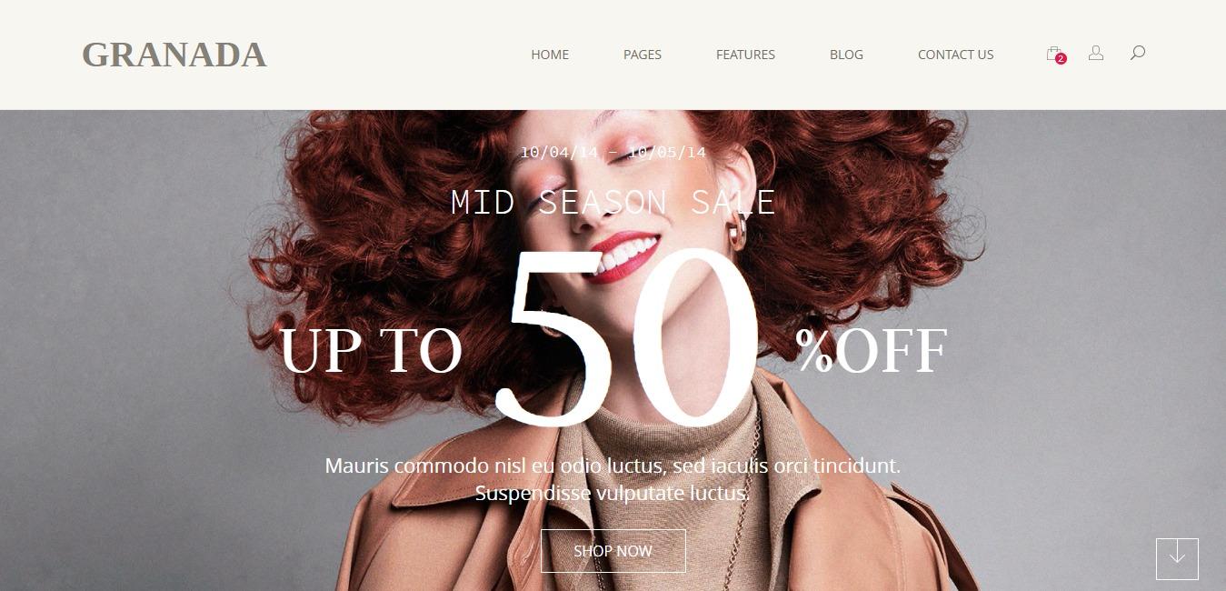 Granada Premium Bootstrap eCommerce Template
