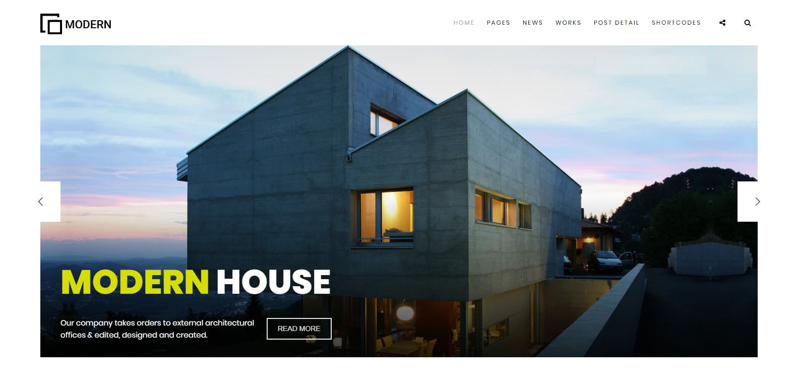 Modern Construction HTML template