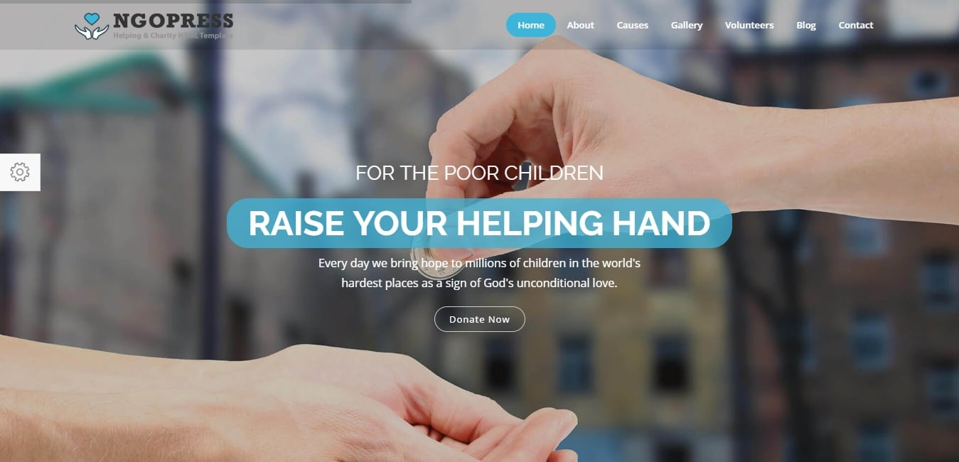 NGOPress churach Charity HTML5 Template