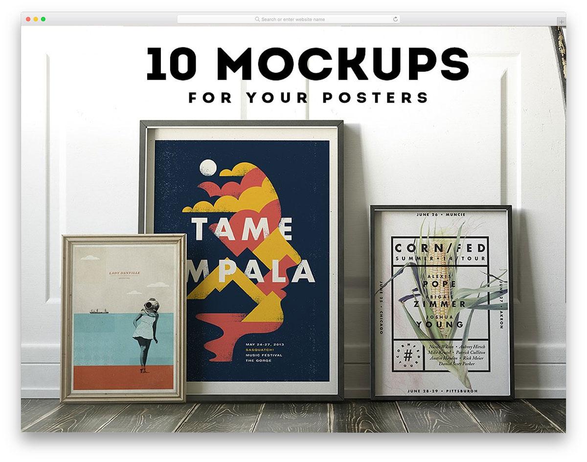 Poster-Frame-Mockup-Set