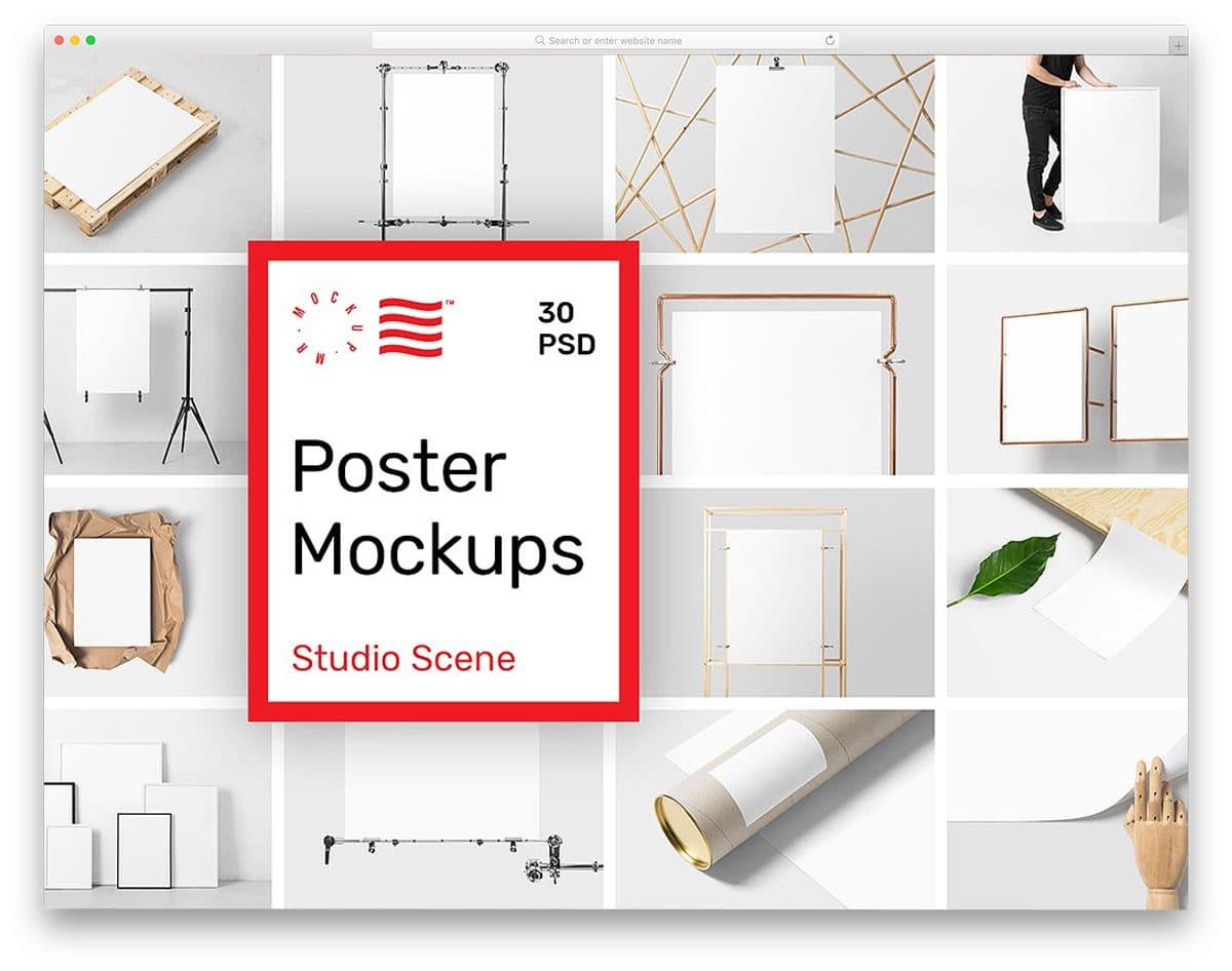 Poster-Mockups-Studio-Scene