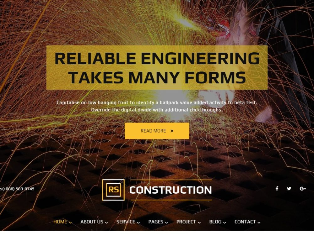 RS Construction HTML template