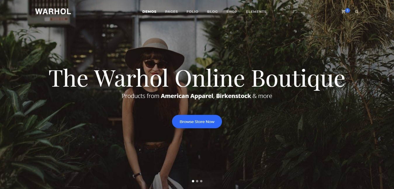 Warhol Multipurpose HTML5 Template Ecommerce