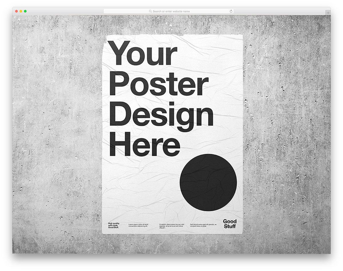 Wheatpaste-Poster-Mockup