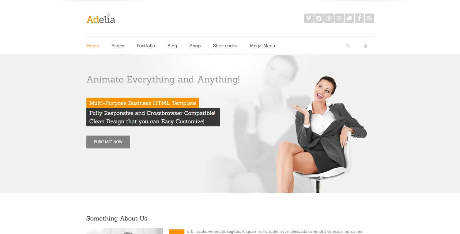 adelia simple website template