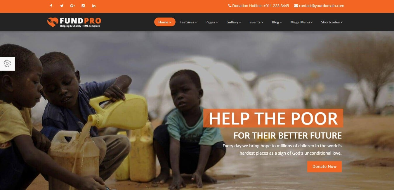 fundpro church Charity HTML5 Template