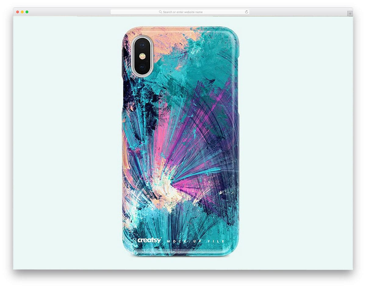 iPhone-X-plastic-case-mockup-set
