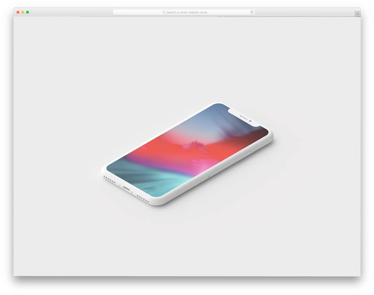 minimal-clay-iPhone-X-mockup-set