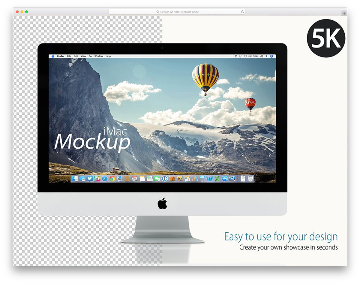 mockup-apple-iMac-on-white
