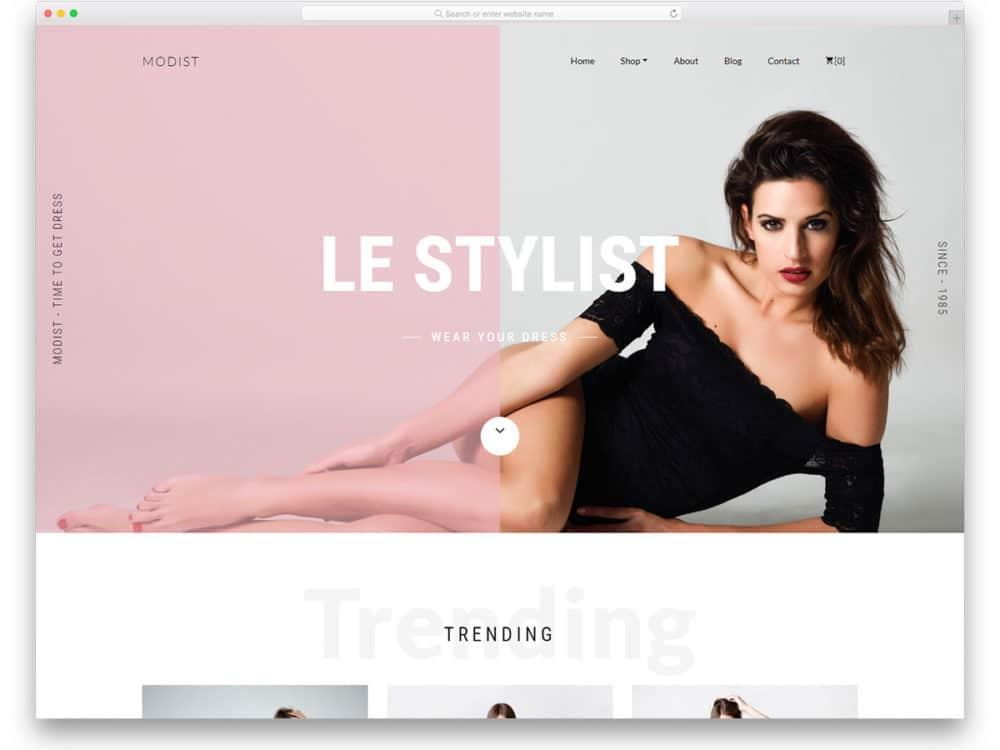 Modist Free Boutique Website Templates