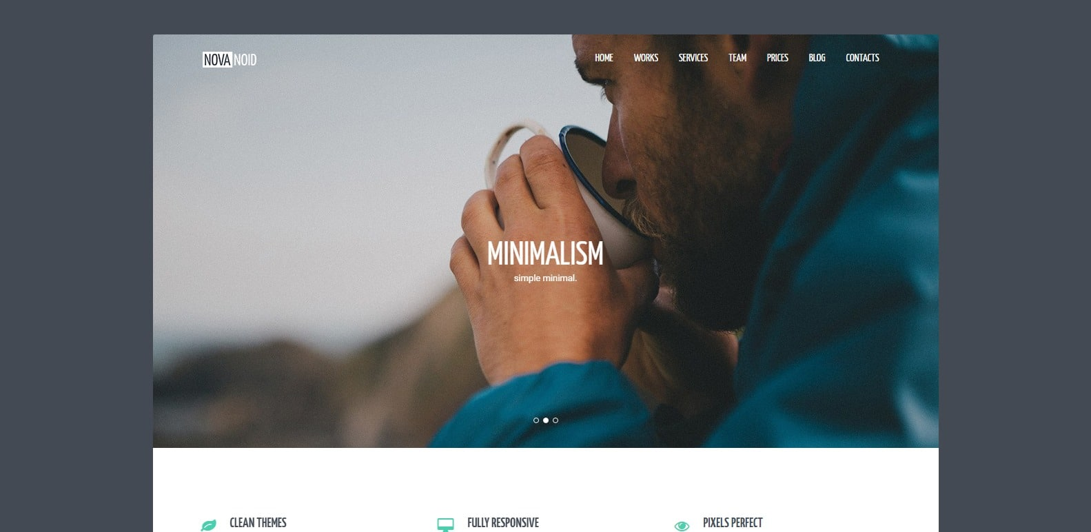 novanoid simple website template