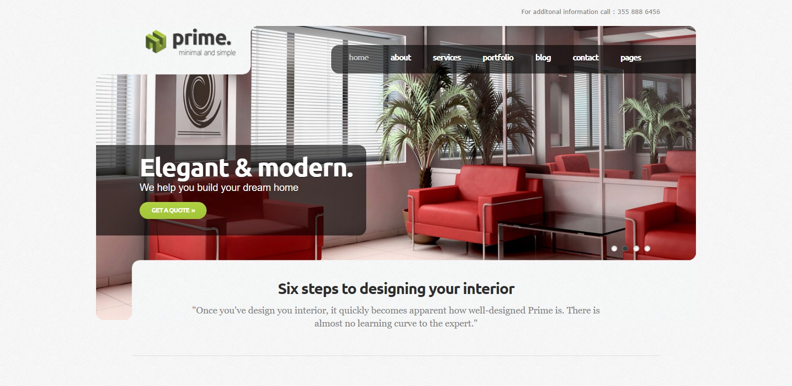 prime simple website template