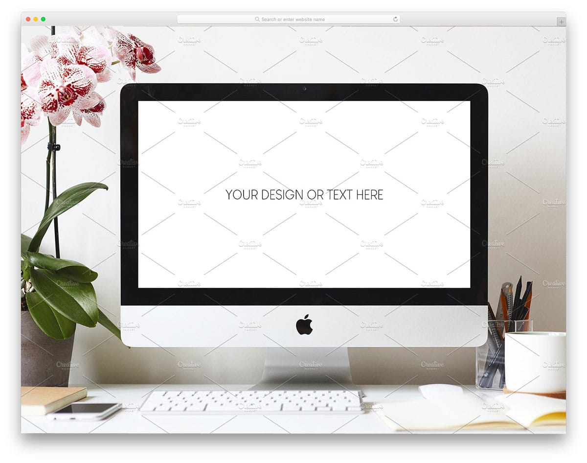 workspace-iMac-psd-mockup