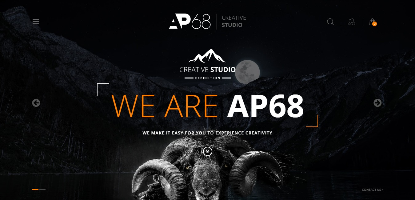 AP68 photography website template