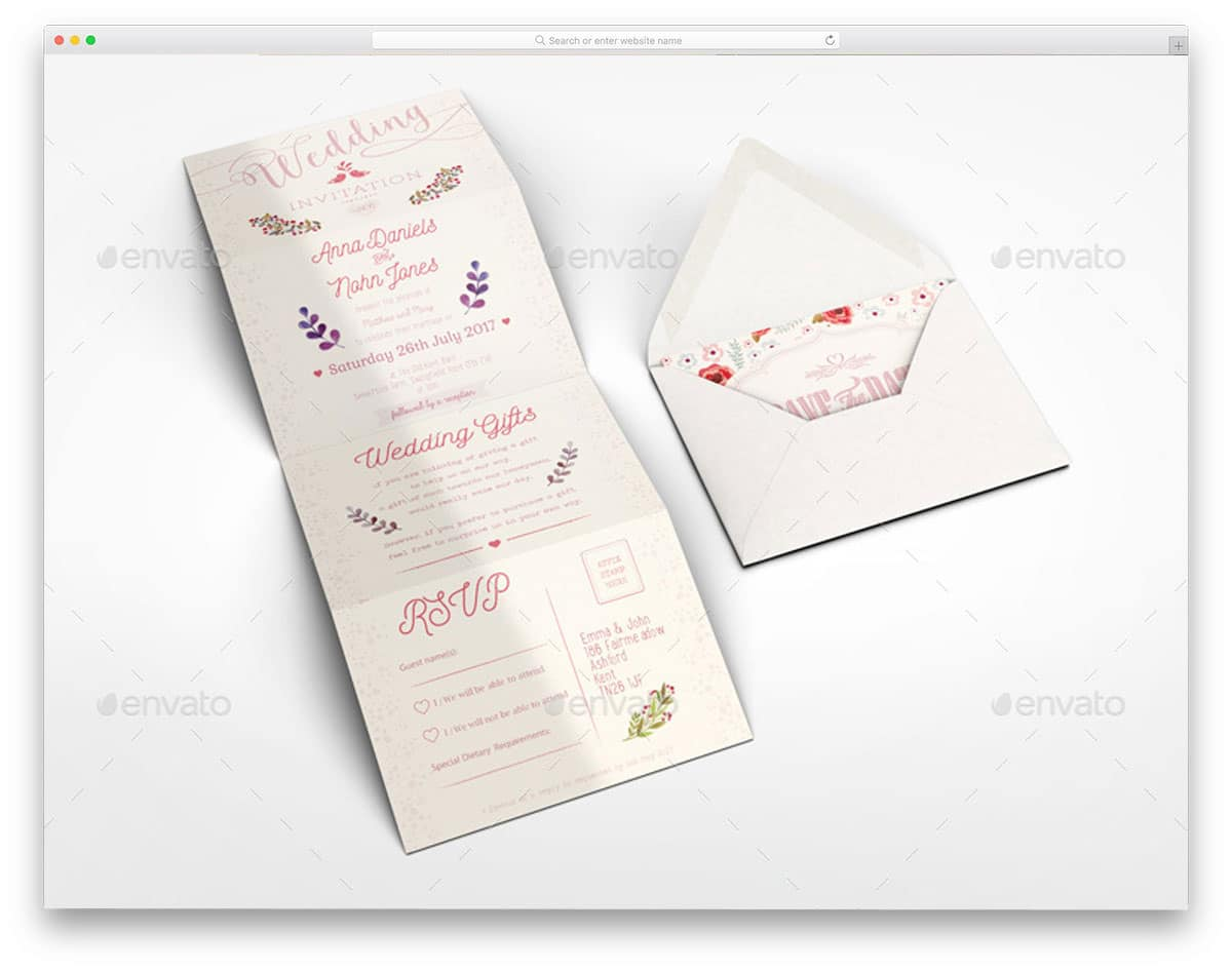 Accordion-Wedding-Invitation-Mockup