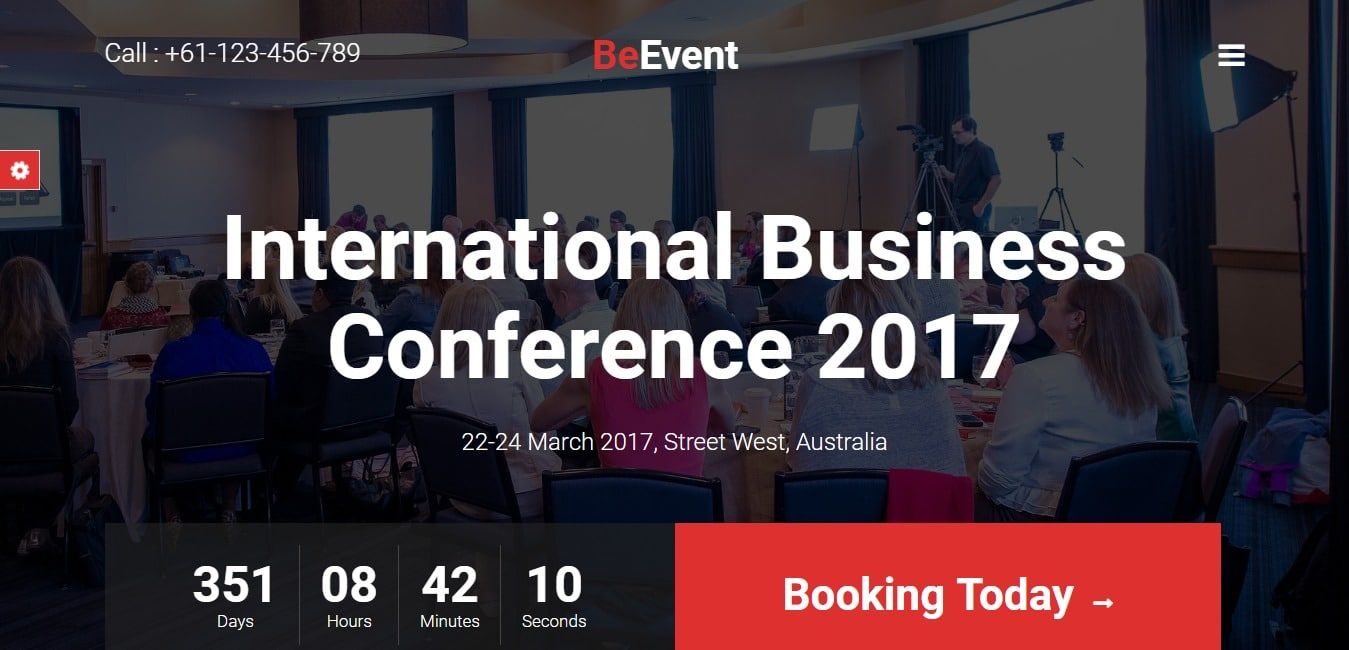 BeEvent Conference Event HTML Template