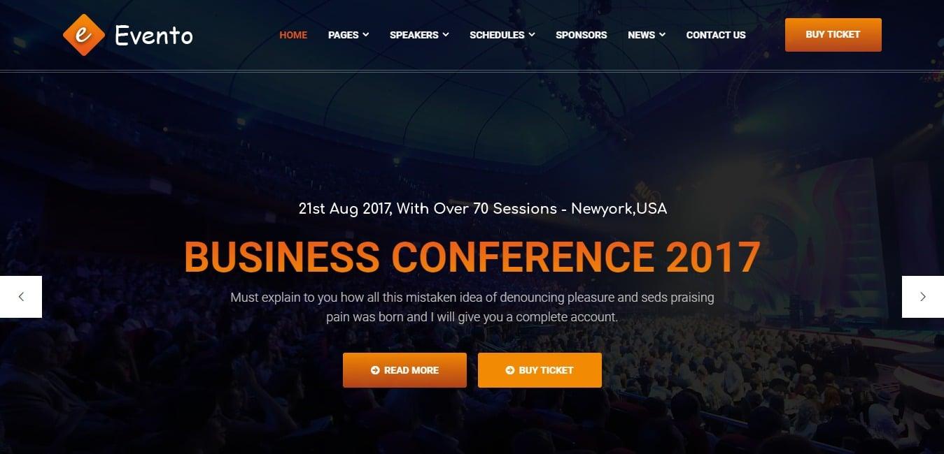 Evento Responsive HTML 5 Template