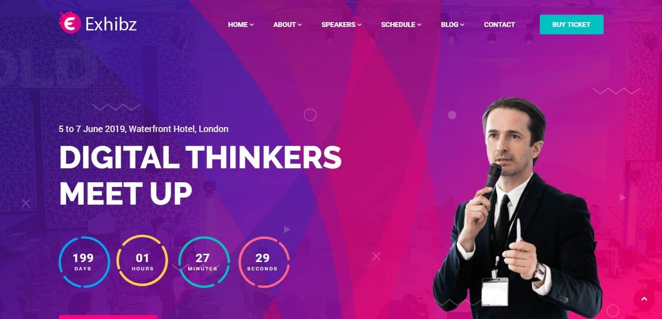 Exhibz Conference Event HTML Template