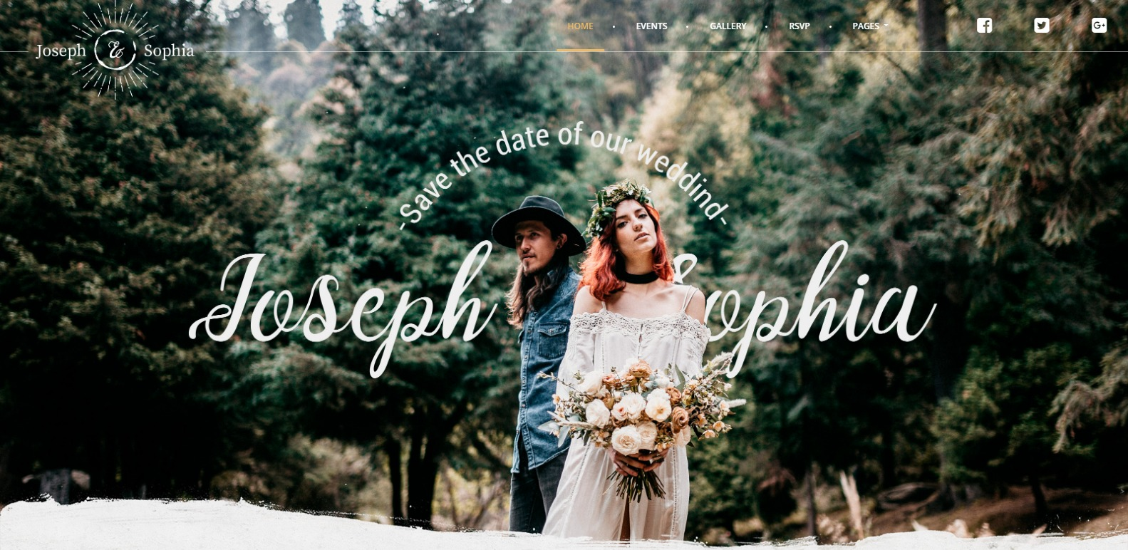 Flower Premium Wedding Website Template