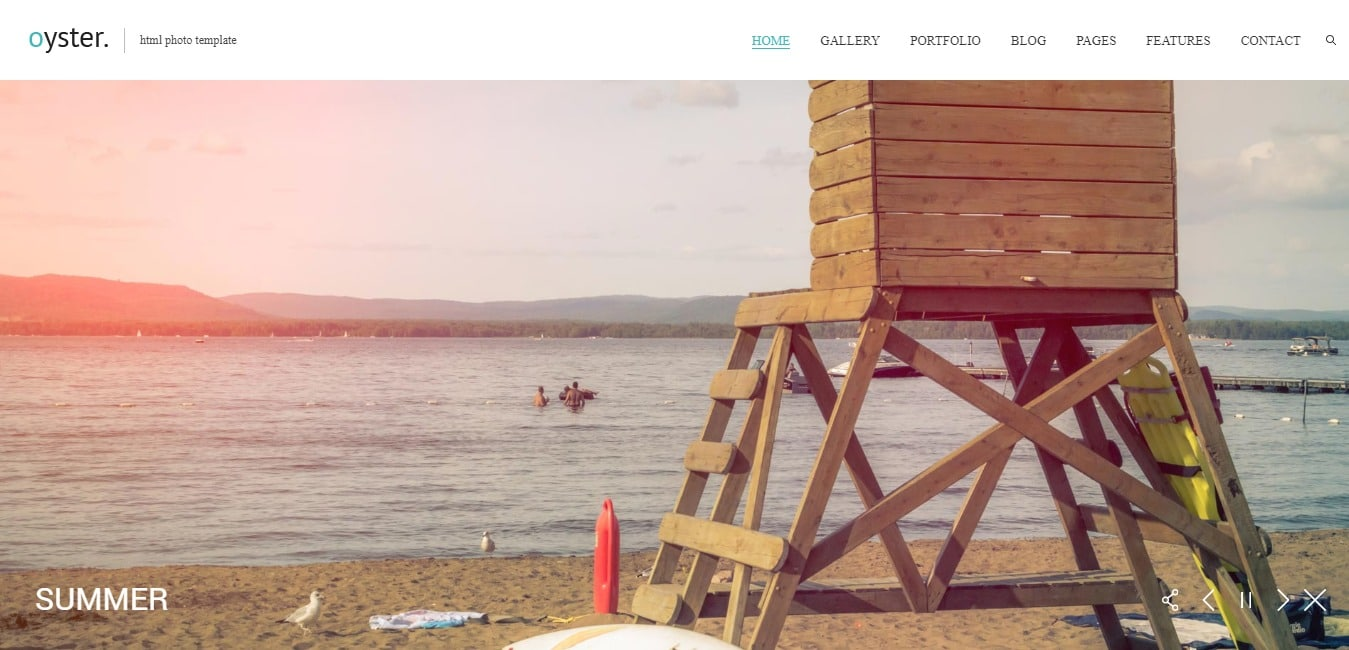 Oyster Html Photo Template