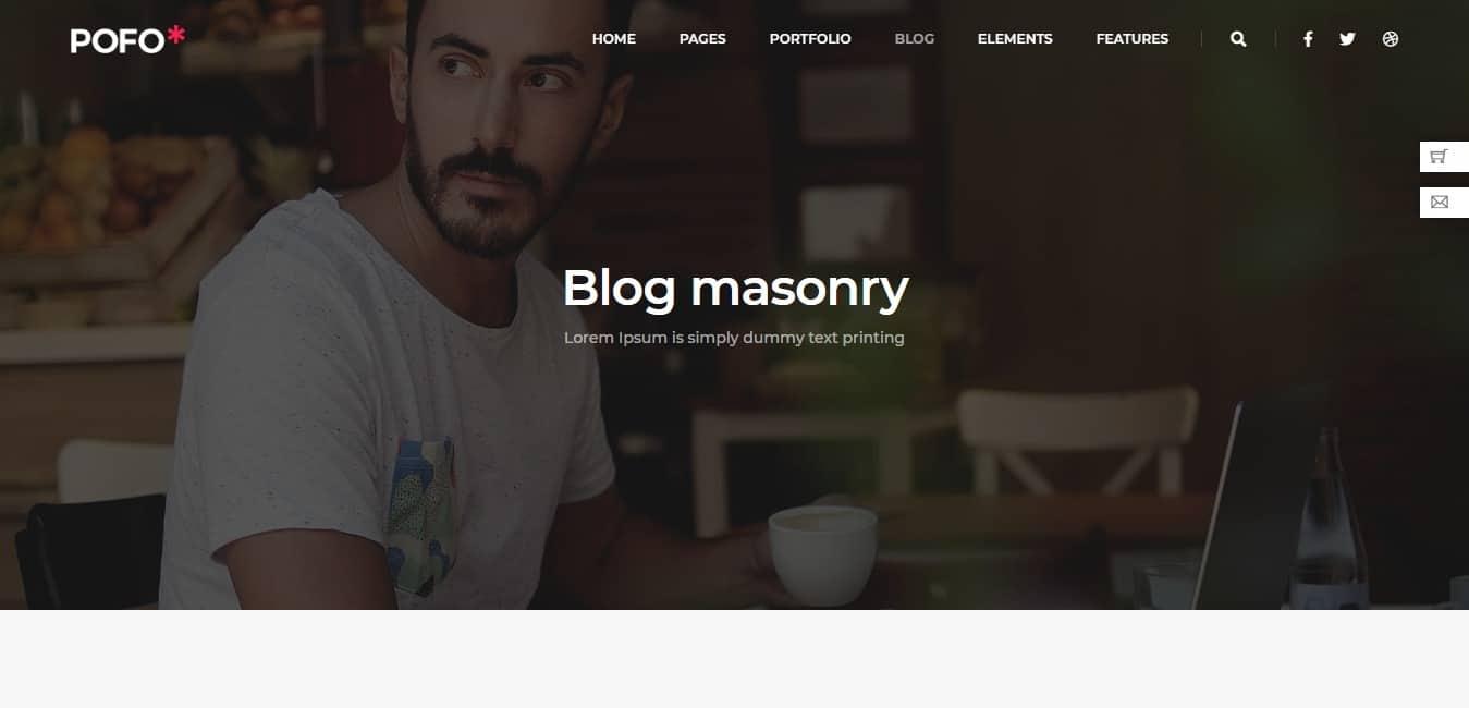 POFO – Creative Agency Corporate and Portfolio Multi purpose Template