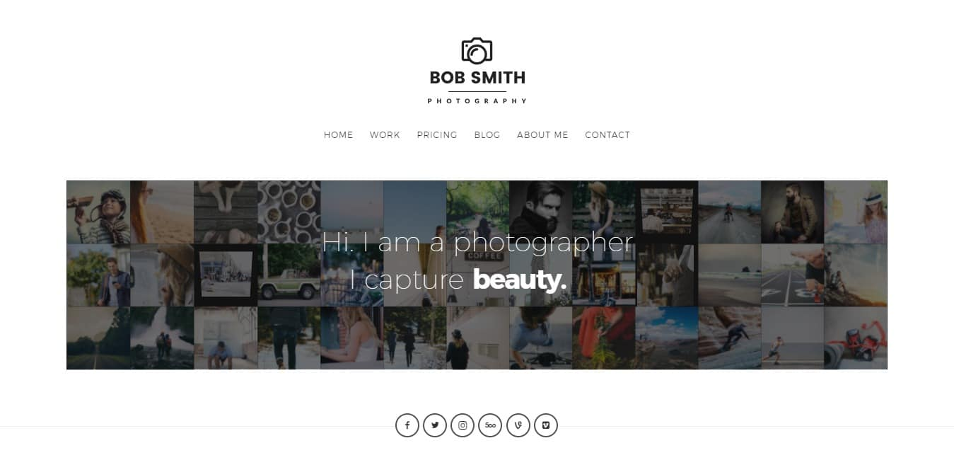 Photographer Responsive HTML5 Template