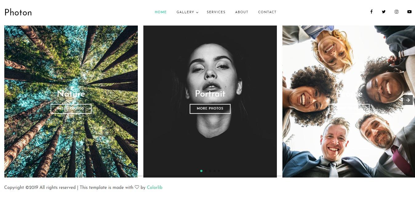 Photon — Colorlib Website Template