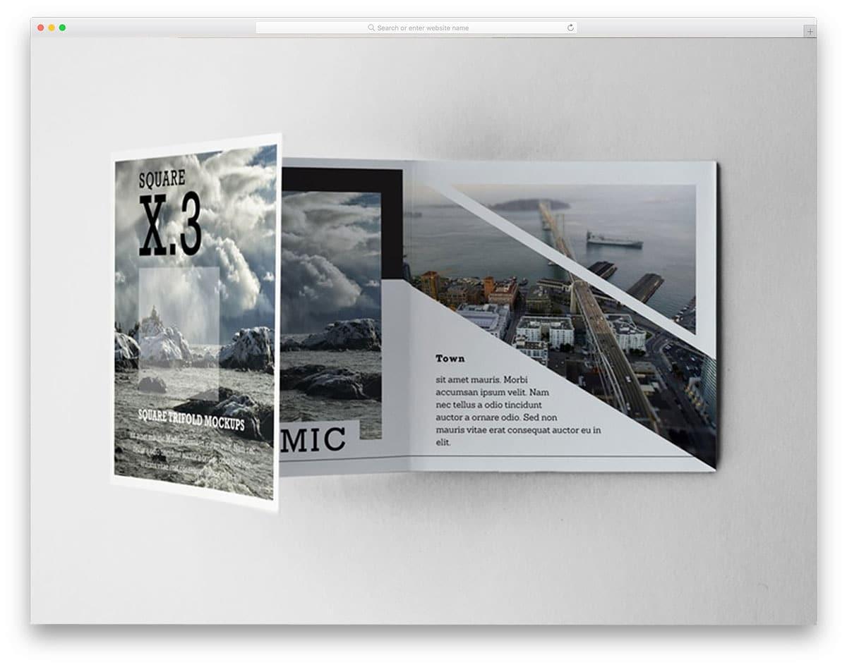 Trifold-Square-Brochure-Mockups