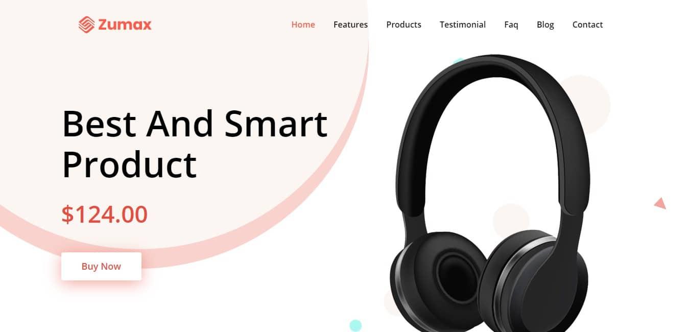 Zumax Product Landing Page