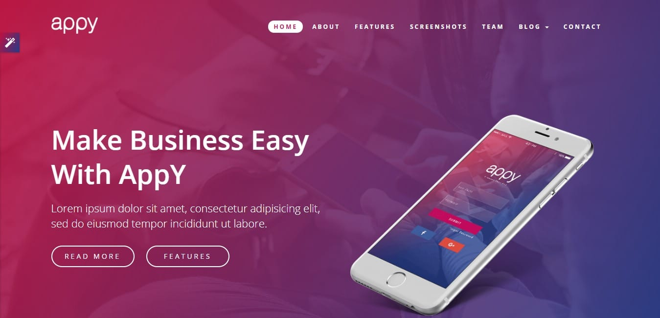 appy-landing-page-template-unlimited-graphic-design-services-usa