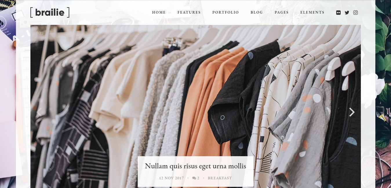 braillie fashion ebsite template
