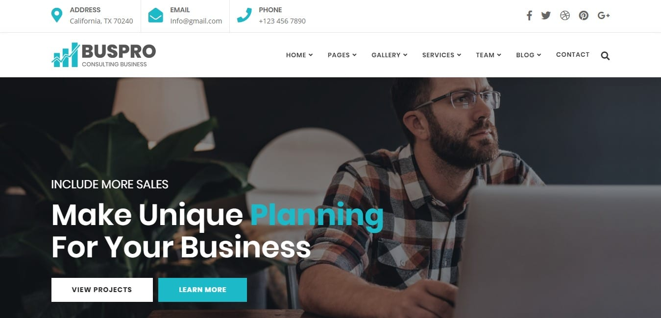 buspro business website template
