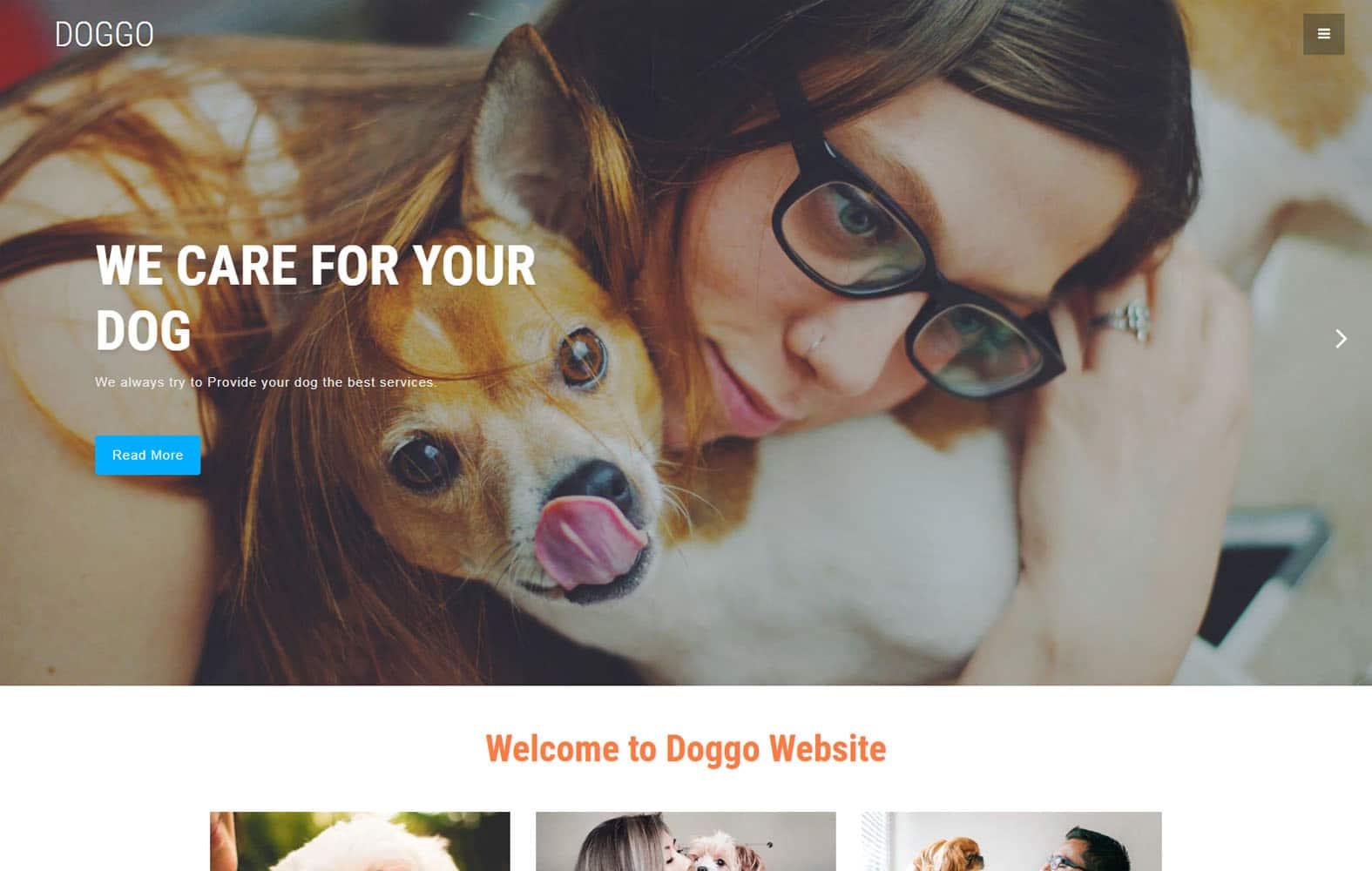 doggo-animal-pet-website-template